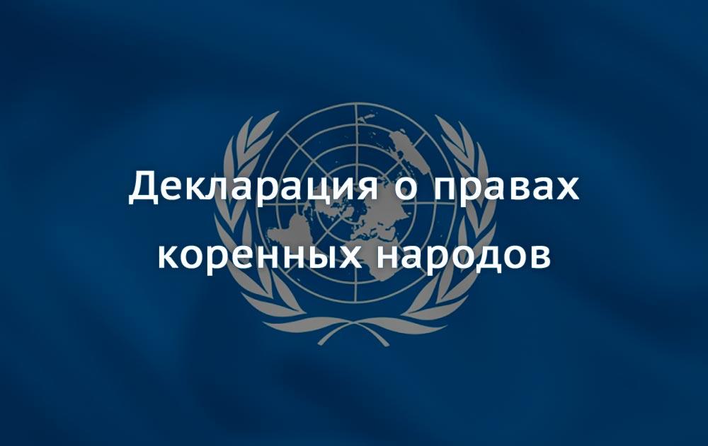 Декларация о правах коренных народов мира принята