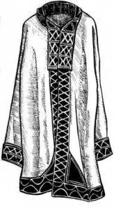 Кендырный халат шорцев с вышевкой цветными нитками