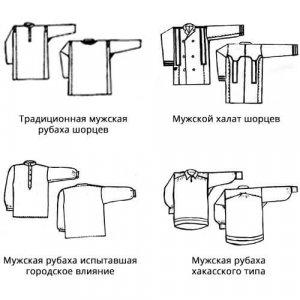 Мужские рубахи шорцев