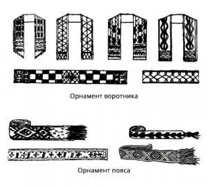 Орнаменты на одежде шорцев