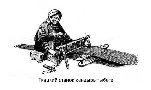 Ткацкий станок кендырь тыбеге