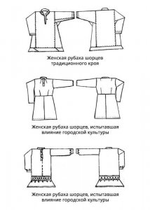Женские рубахи шорцев