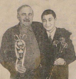 Юрий Арбачаков со своим первым тренером Юрием Семеновичем Айларовым