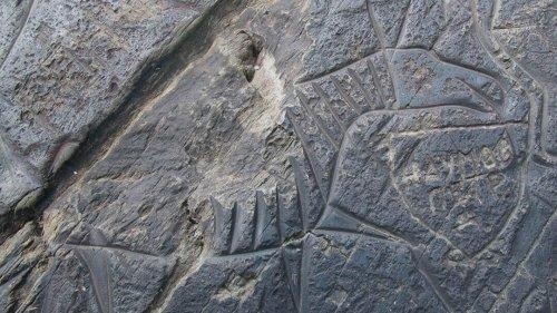 Древние рисунки на скале