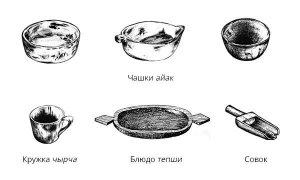 Шорские посуды из дерева